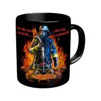Original-Rahmenlos Tasse: Feuerwehr heiß