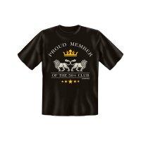 Original-Rahmenlos T-Shirt: proud Member 50+ Club