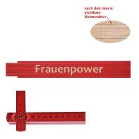 Zollstock rot Frauenpower