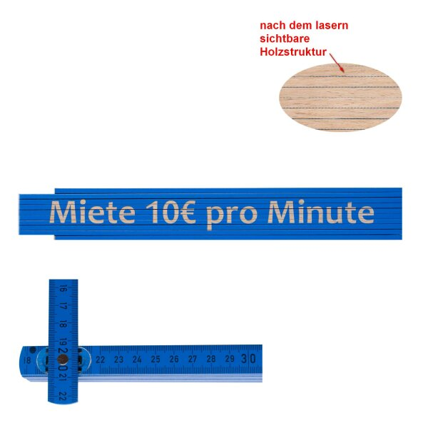 Zollstock Miete 10€ pro Minute