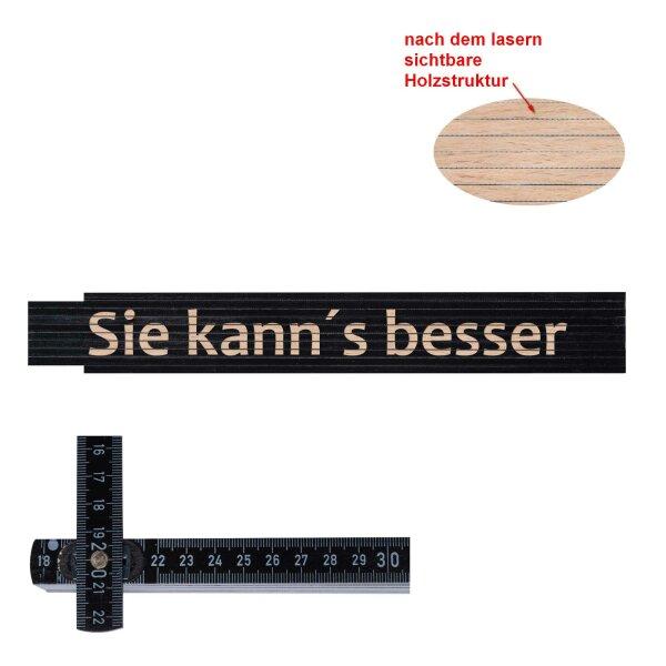Zollstock schwarz: Sie kann´s besser