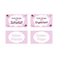 """Frühstücksbrettchen """"Pink Karo"""" 4..."""