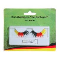 Fan-Wimpern Deutschland schwarz-rot-gold