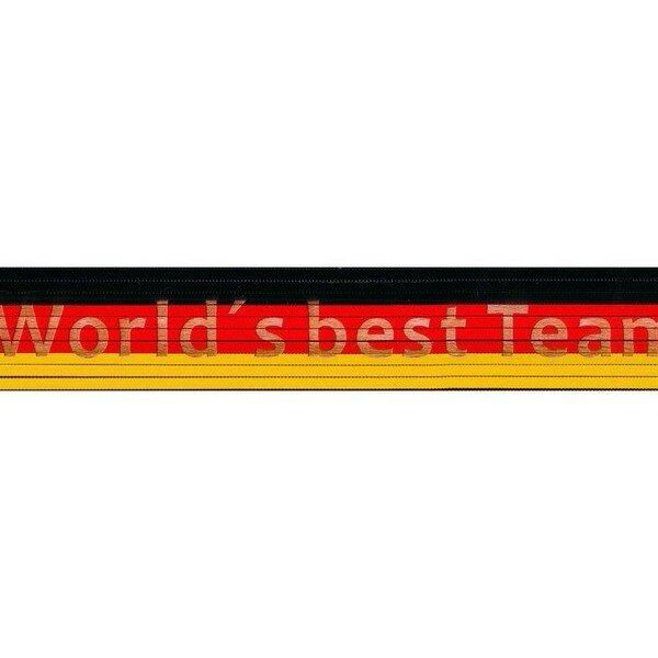 Zollstock schwarz/rot/gelb: World´s best Team