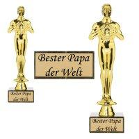 Siegerfigur bester Papa der Welt 25cm