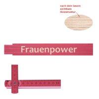 Zollstock pink Frauenpower