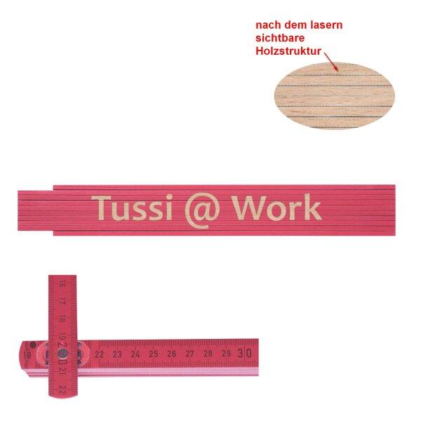 Zollstock pink Tussi @ work