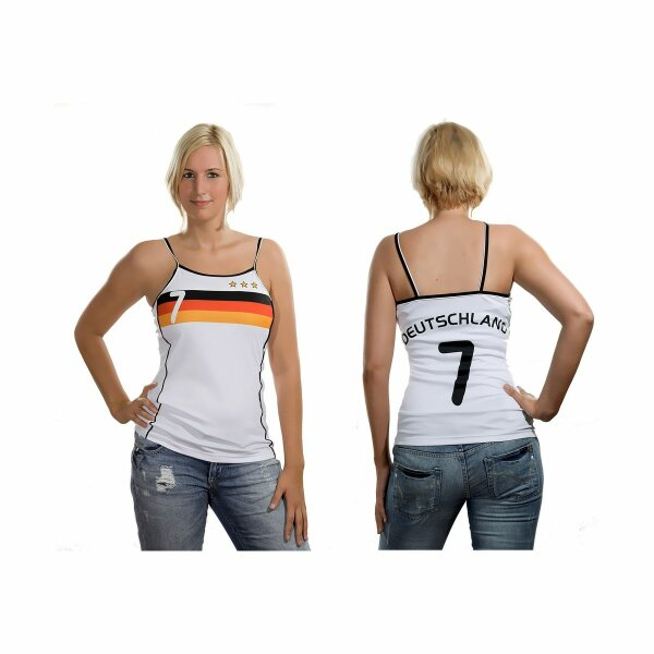 Damen Top Deutschland mit Rückennummer