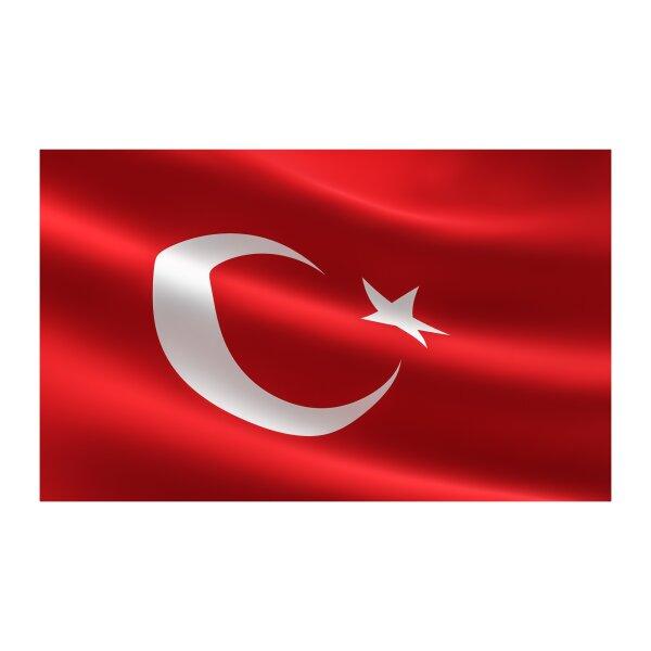 10 Stück Fahne Flagge Türkei 90x150cm